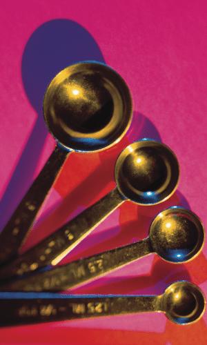 measuring spoons to measure bariatric snacks