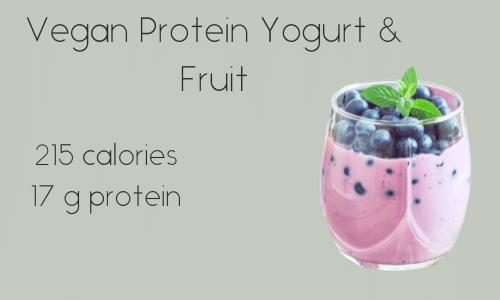 Vegan Protein Yogurt & Fruit 215 calories 17 g protein